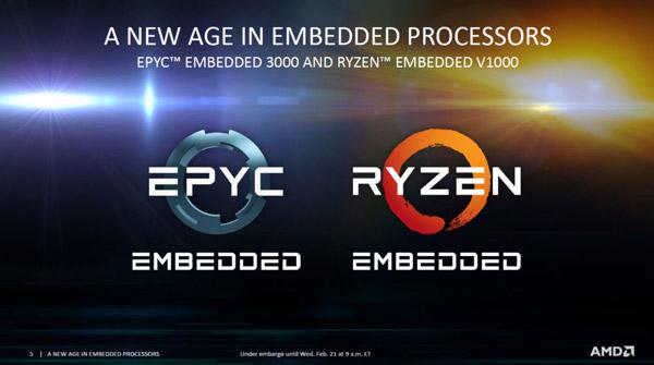 AMD EPYC Embedded 3000 и AMD Ryzen Embedded V1000