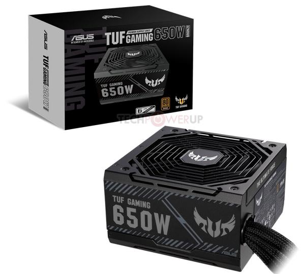 ASUS выпустила две модели блоков питания TUF Gaming Bronze Series 550 и 650 Вт для геймеров