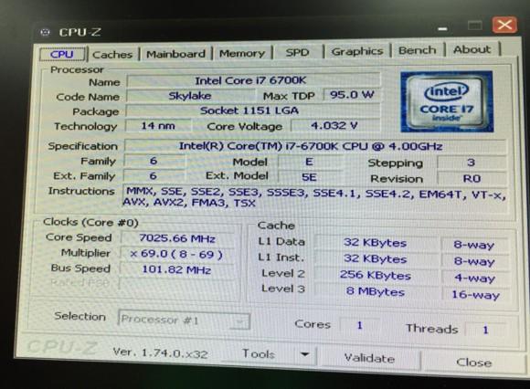 Intel Skylake разогнали жидким азотом под Windows XP до 7 ГГц