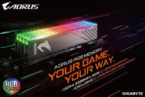 Gigabyte Aorus RGB LED DDR4-3200