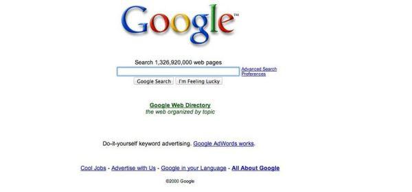 Google в 2000