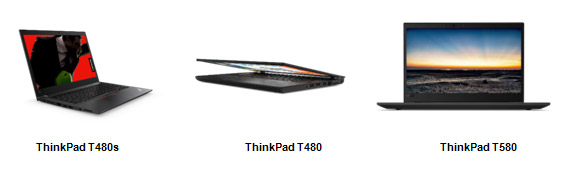 ThinkPad T480, ThinkPad T480s и ThinkPad T580