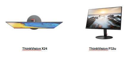ThinkVision X24 и P32u