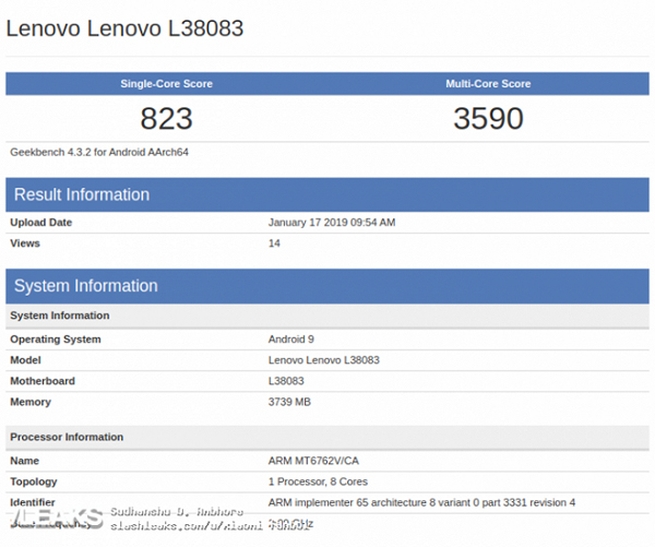 Lenovo phone Geekbench