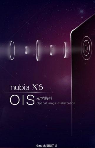 ZTE Nubia X6 получит камеру с системой оптической стабилизации изображения
