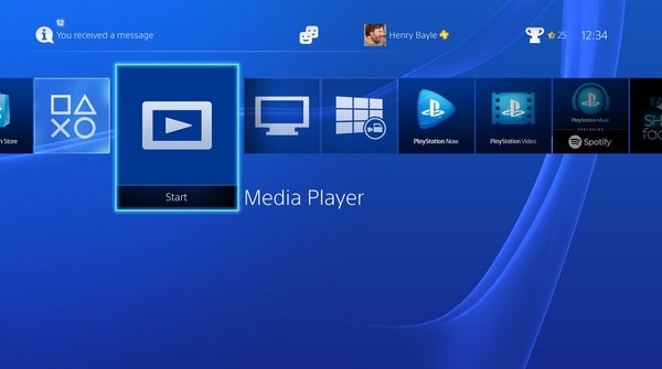 PlayStation 4 Media Player