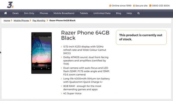 Игровой смартфон Razer Phone