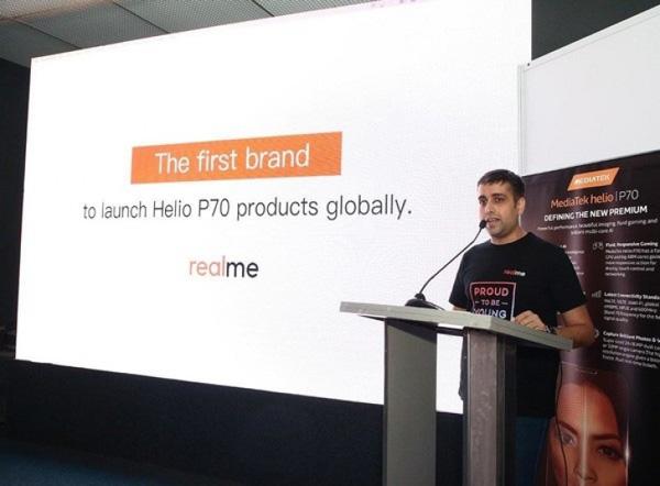 Realme первой выпустит смартфон на чипсете MediaTek Helio P70