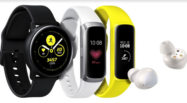 Samsung Galaxy Watch Active, Galaxy Fit, Fit e и Galaxy Buds