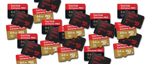 SanDisk карты microSD