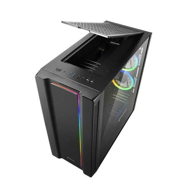 Sharkoon выпустила корпус REV220 Mid-Tower верхним расположением питающих кабелей