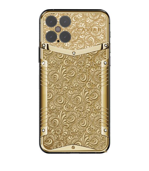 Российский золотой айфон Caviar iPhone 12 Pro Victory Pure Gold бесплатно доставят в любой город страны